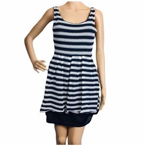 Charming Charlie's A Line Dress W/ Knit overlay